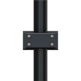 Clamp-style adapter for vertically-oriented pipe-mounted dual DSA Series monitor arms