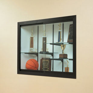 Harbor Series Recessed Wall Display Case - Multiple Sizes