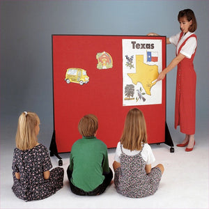 Mobile Vinyl Classroom Dividers - 4' H - in Sixteen Colors
