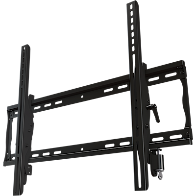 "Universal tilting mount with double lock for 32"" to 55""+ flat panel screens"