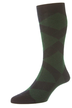 Abdale Argyle Diamond Rib Socks