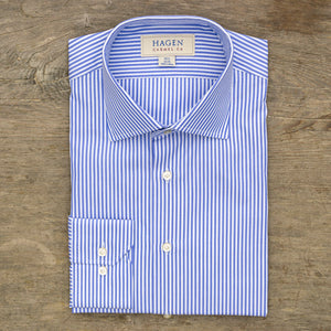 Hagen Go-To Blue Stripe Dress Shirt