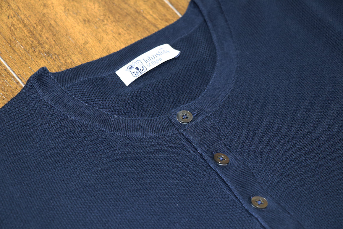 Pima Cotton Knit Henley