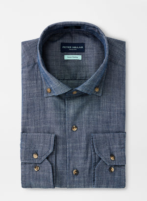 Dark Wash Chambray Sport Shirt