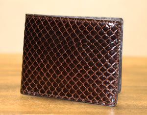 Genuine Anaconda Bi-Fold Wallet