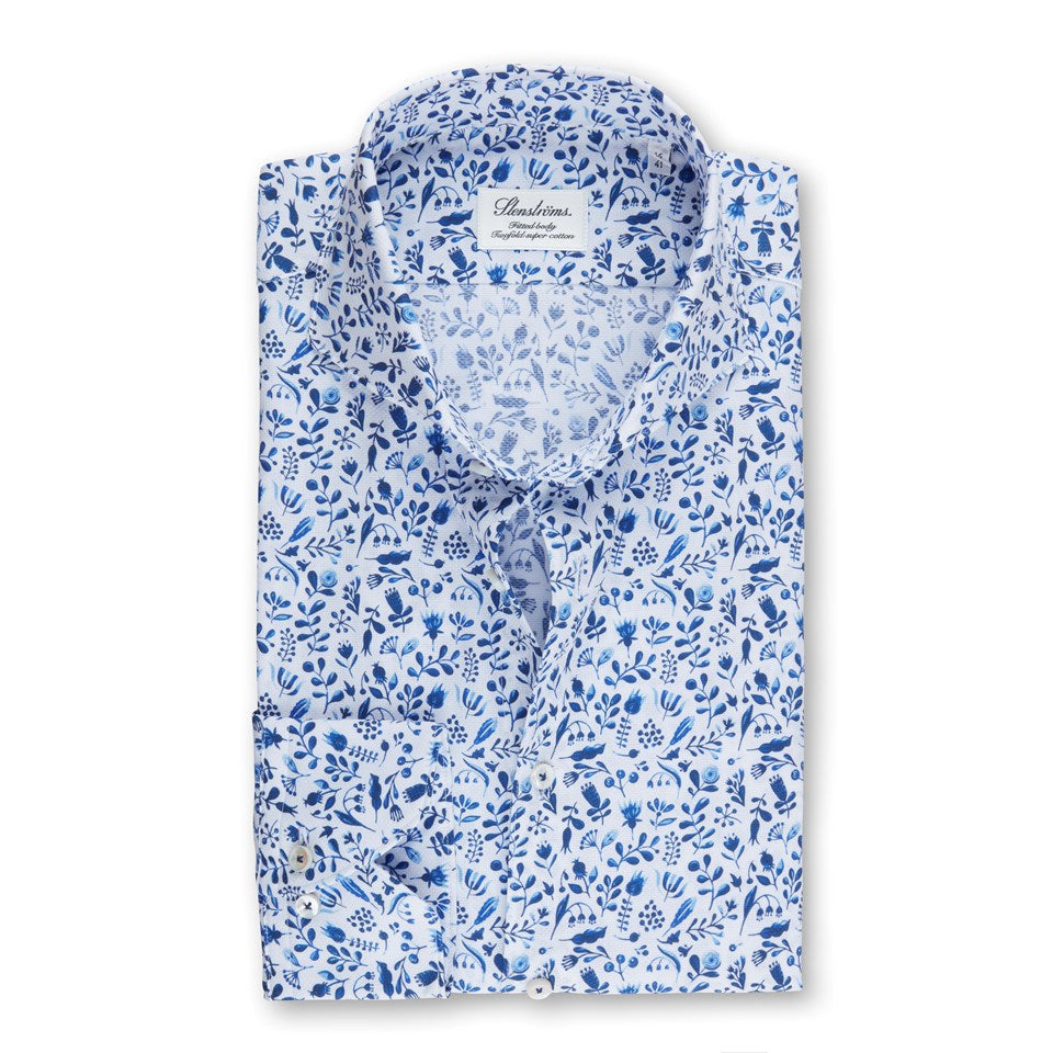 Floral Pique Fitted Body Sport Shirt