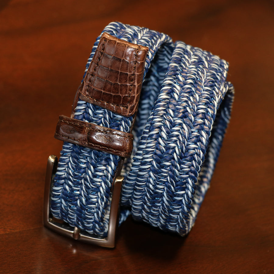 Glacier Patterned Stretch Belt