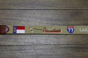 Lake Norman Life Needlepoint Belt
