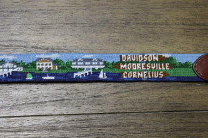 Lake Norman Scene Needlepoint Belt