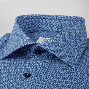 Slim Fit Medallion Pattern Sport Shirt