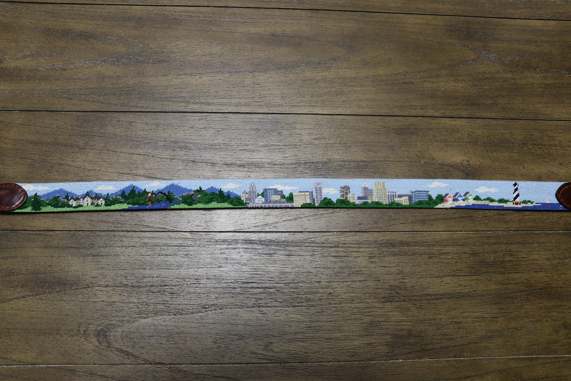 North Carolina Scene Needlepoint Belt