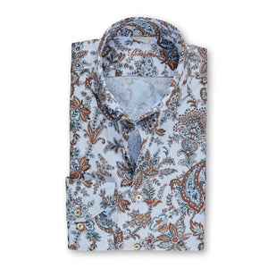 Full Paisley Fitted Body Sport Shirt