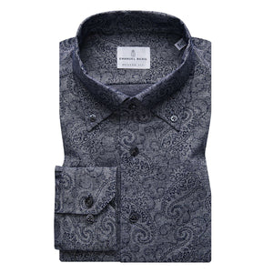 Paisley Print Stretch Pique Sport Shirt