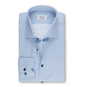 Leaf Patterned Slim Fit Sport Shirt