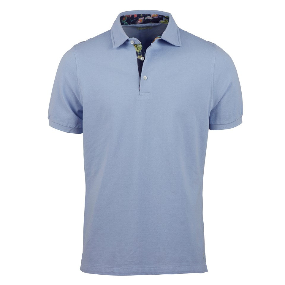 Solid Luxury Polo with Contrast Trim