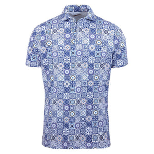 Tile Patterned Luxury Polo