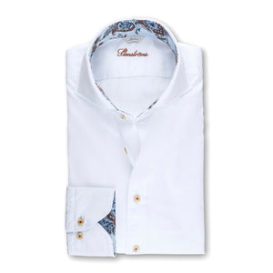 Fitted Body Paisley Trim Sport Shirt