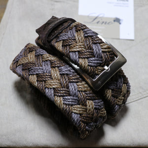 Cloth Weave Belt with Caiman Trim