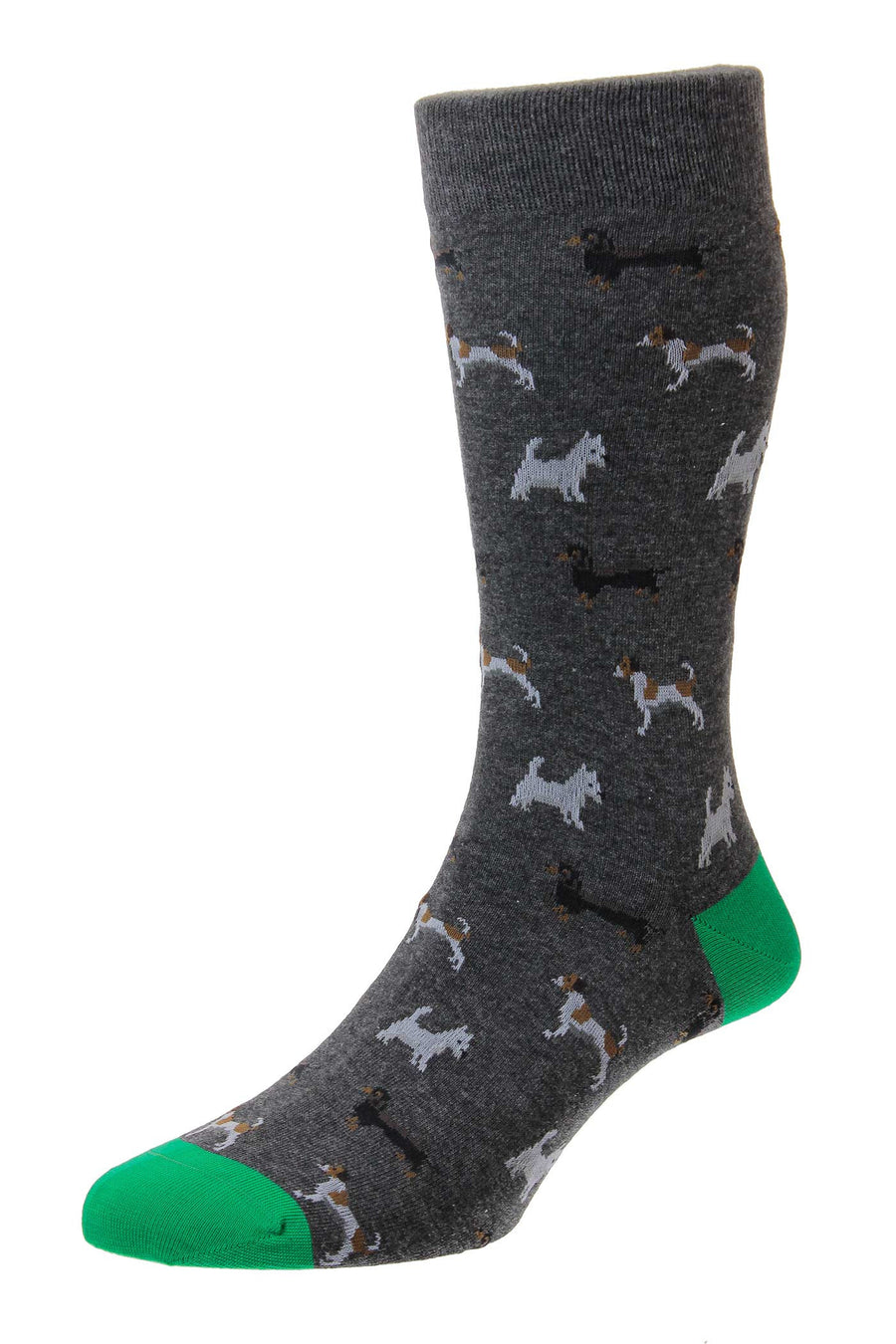 Bertie Dogs Print Organic Cotton Sock