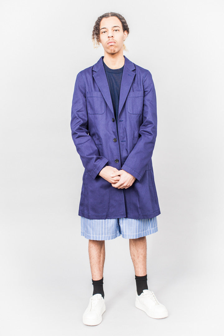 Comme Des Garçons SHIRT boys Logo Coat Blue - SOLD OUT