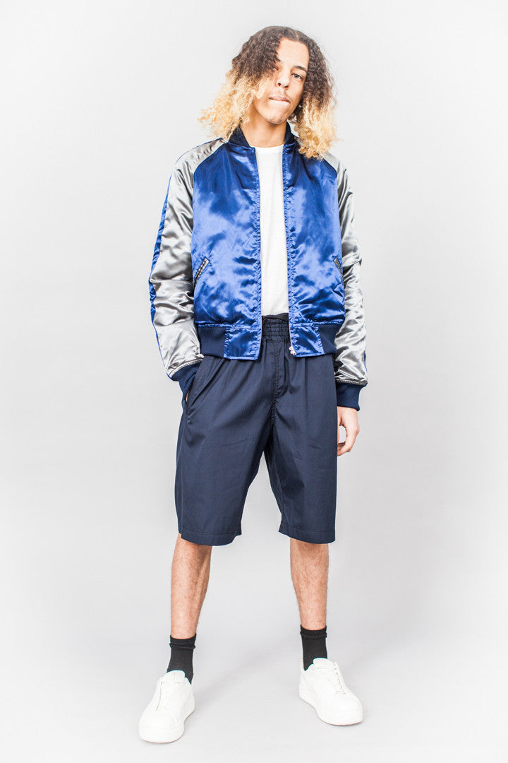 Comme Des Garçons SHIRT boys Souvenir Jacket Blue/Grey/Black - SOLD OUT
