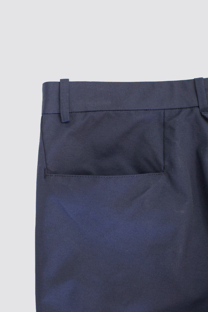 DDUGOFF Slim Pants Dull Navy Cotton/Nylon - SOLD OUT