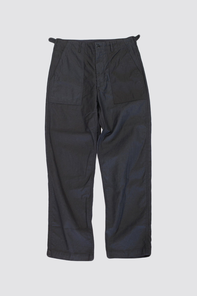 Engineered Garments Fatigue Pant Black Cotton Reversed Sateen