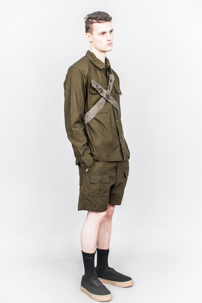 Engineered Garments Field Shirt Olive Reversed Sateen