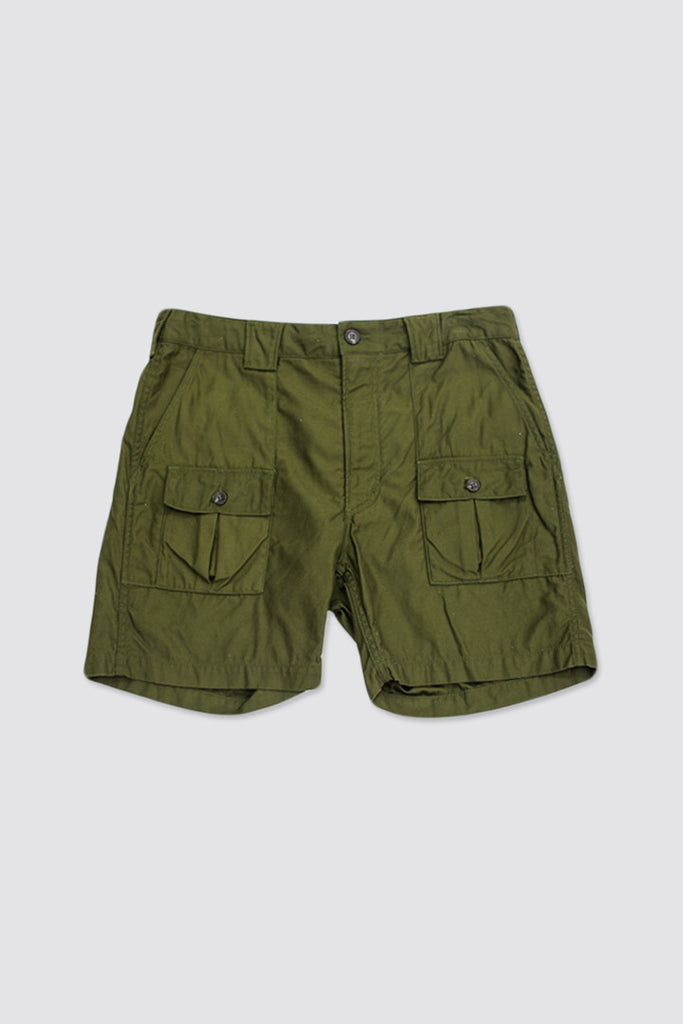 Engineered Garments Ranger Short Olive Reversed Sateen