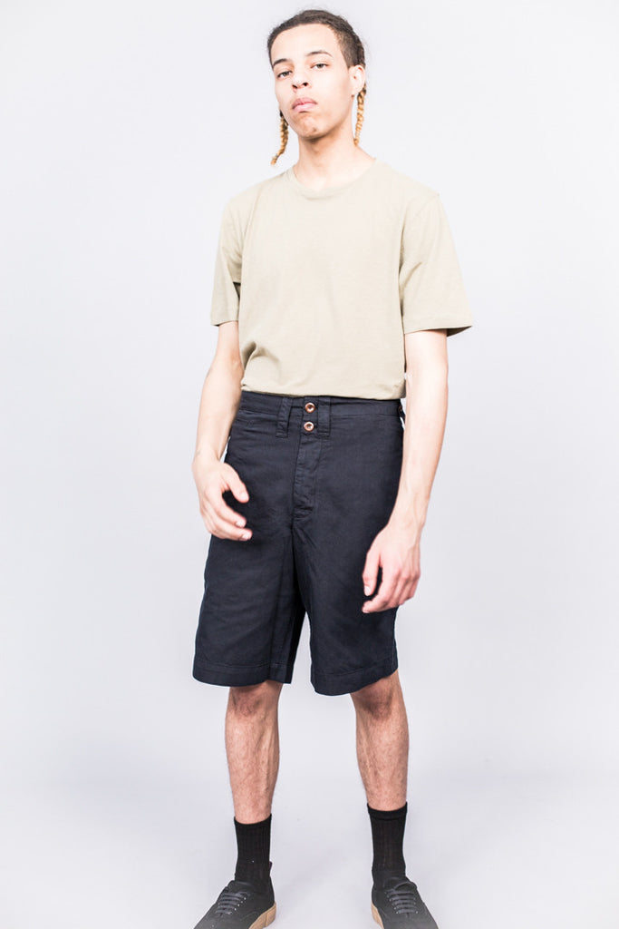 MHL Basic T-Shirt Cotton Linen Jersey Pale Khaki