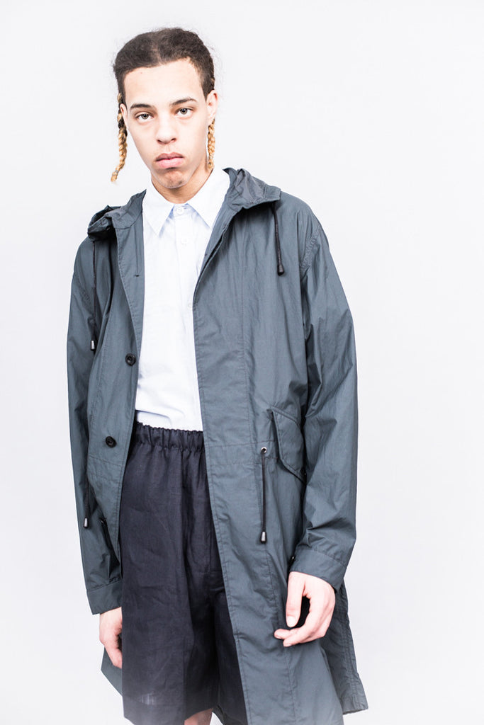MHL Fishtail Parka Superlight Proofed Cotton Charcoal