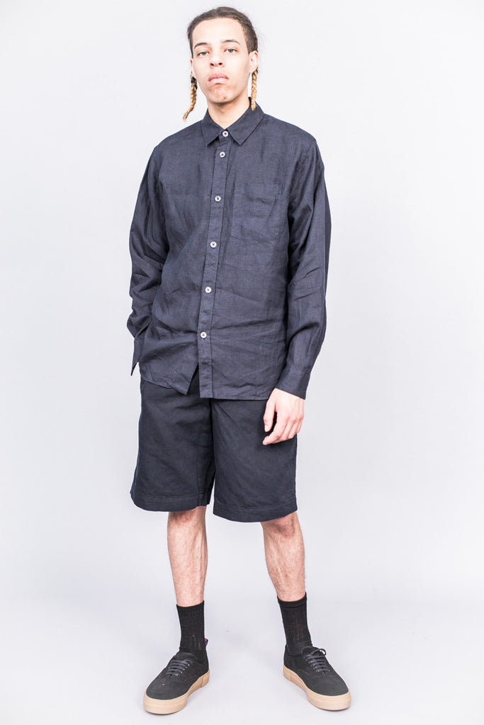 Margaret Howell Minimal Shirt Shirting Linen Ink - SOLD OUT