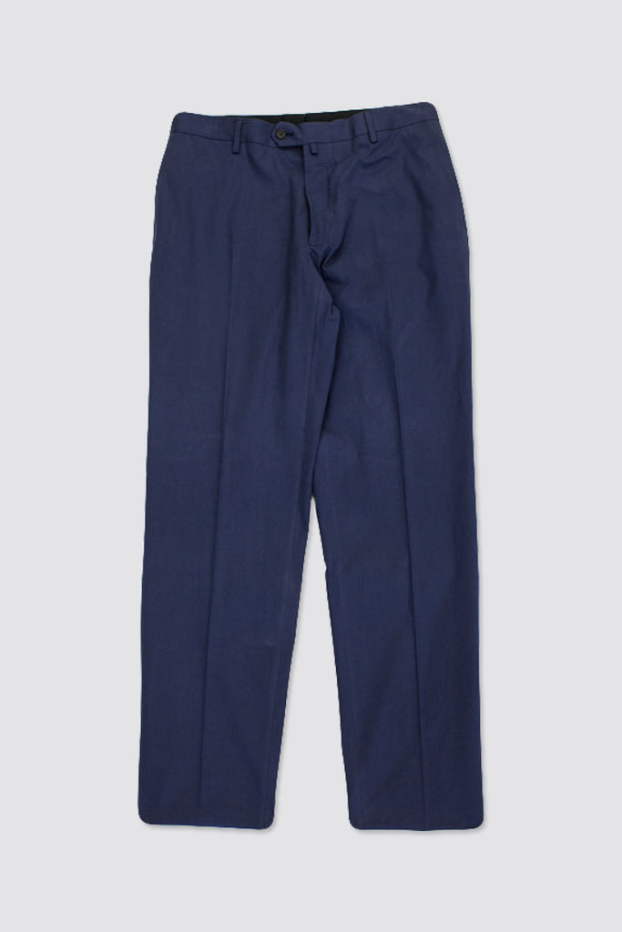 Margaret Howell Soft Narrow Trouser Matt Twill Navy