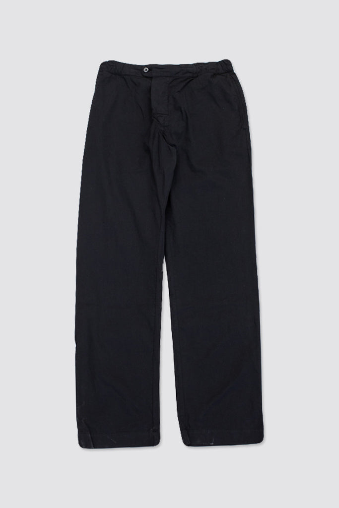 MHL Gym Trousers Fine Cotton Twill Black