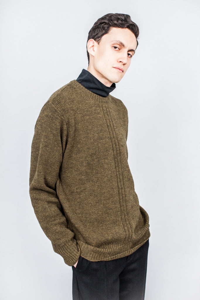 MHL Military Crew Neck Wool/Alpaca Military Green