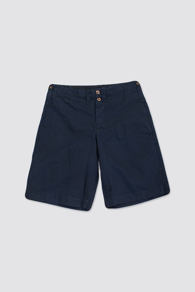 MHL Scout Short Cotton Linen Drill Black