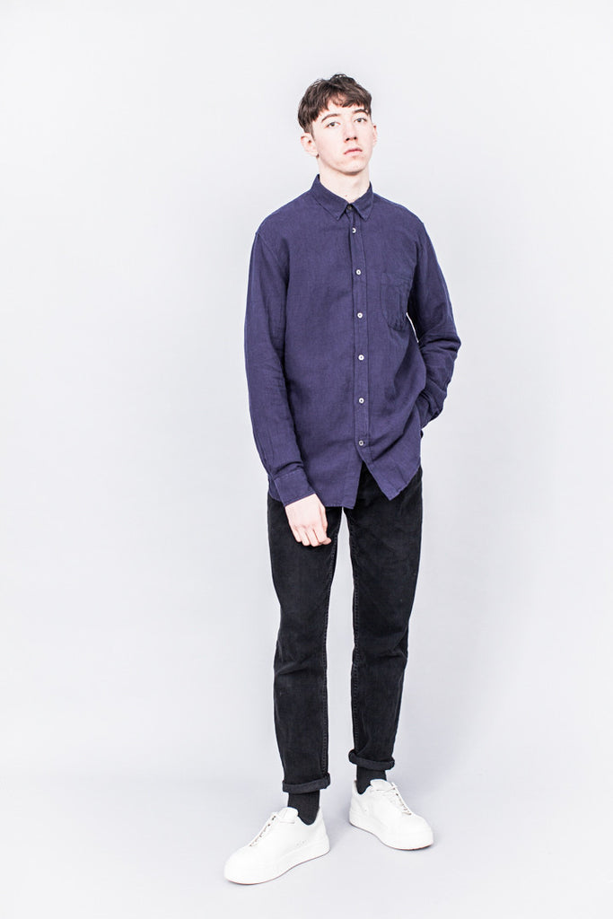 Our Legacy Generation Shirt Purple Blue Cotton/Linen