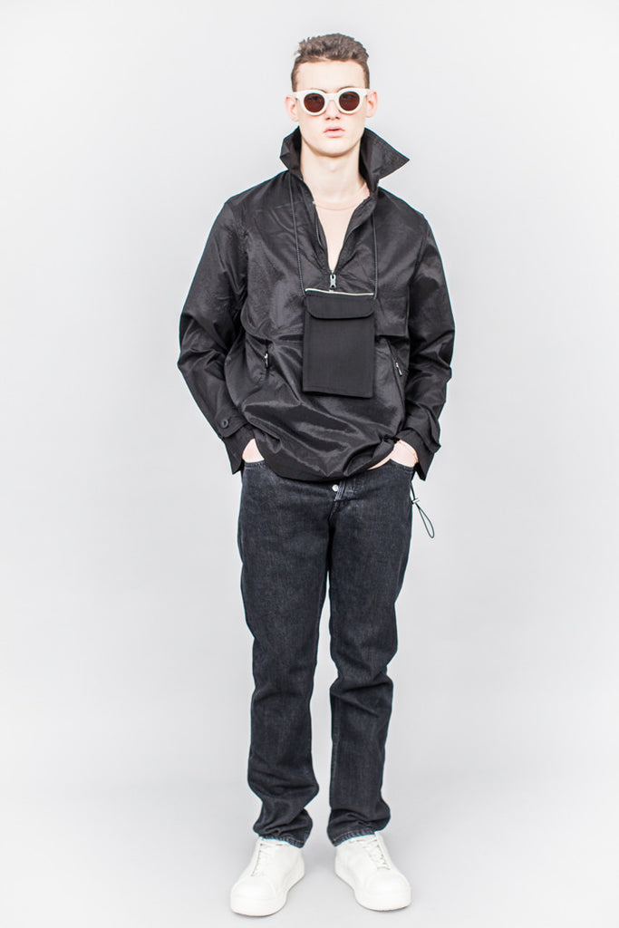 Our Legacy Half Zip Smock Parachute Black
