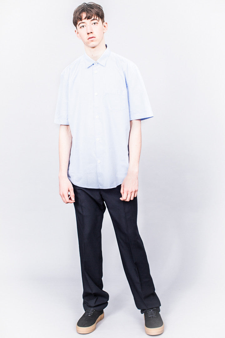 Our Legacy Initial SS Shirt Blue Filafil - SOLD OUT