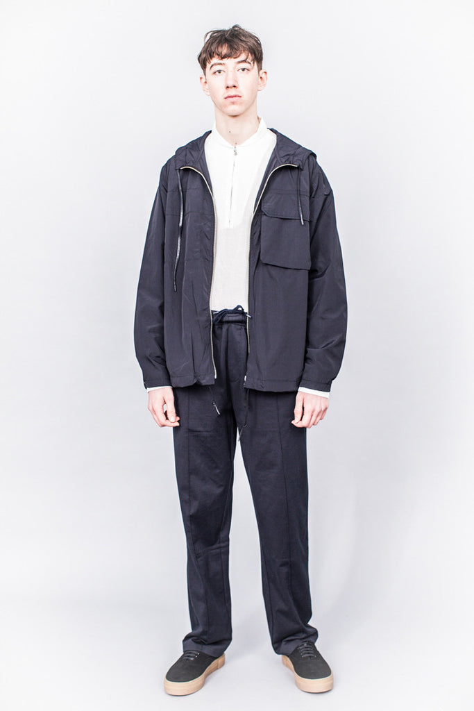 Our Legacy Cropped Lizard Parka Navy Nylon
