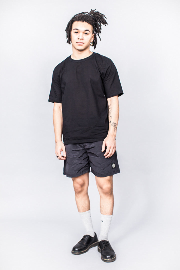 Our Legacy Weaved T-Shirt Washed Black Voile