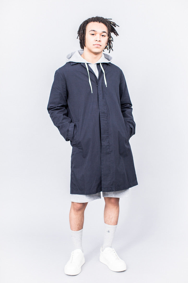 Très Bien Car Coat Overdye Navy Blue - SOLD OUT