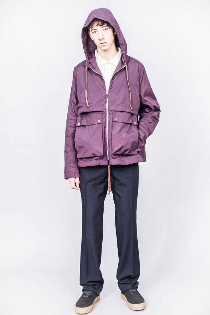 Très Bien Short Parka Two Layer Plum