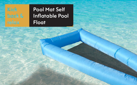 Handsome Pool Mat Self Inflatable Pool Float Banner