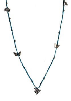 Critters on wax cord necklace - Agabhumi