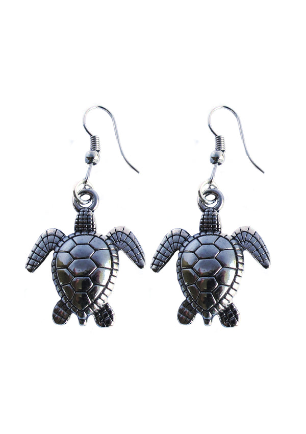 Turtle wire earrings