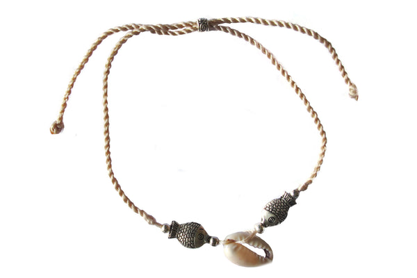 Fish on rope bracelet - Agabhumi