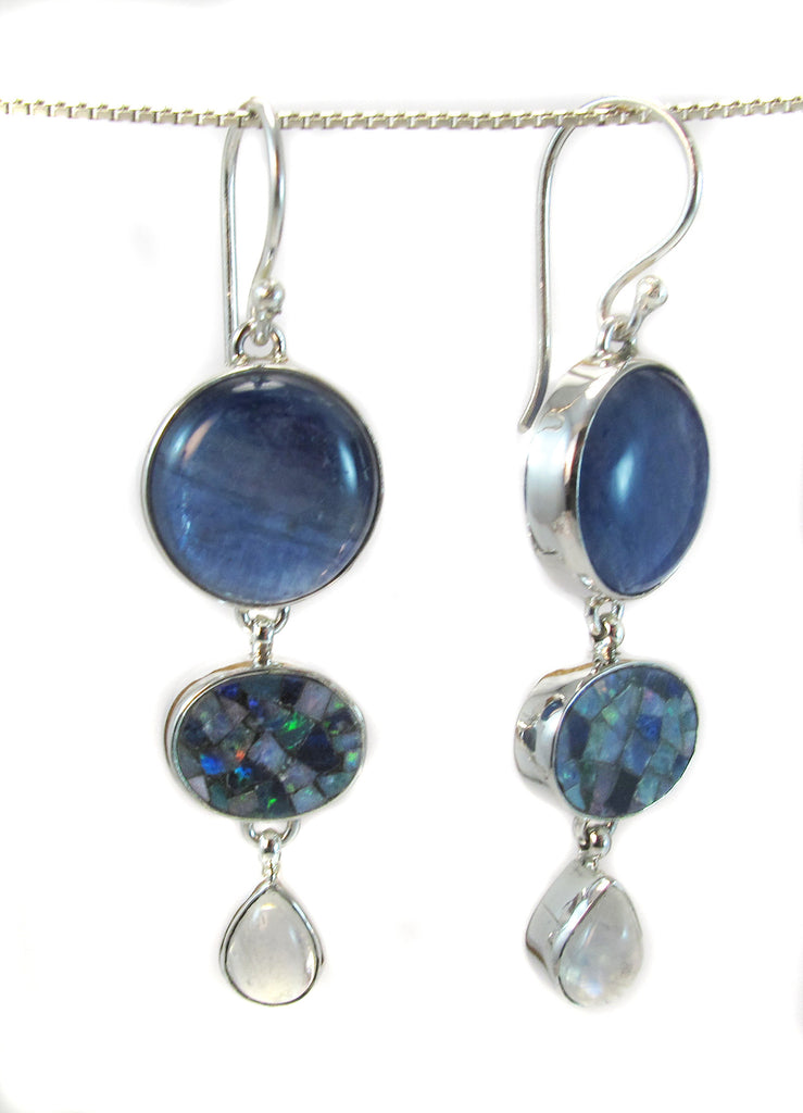 Kyanite/mosaic opal/moonstone - Agabhumi - Where Fashion Happens First