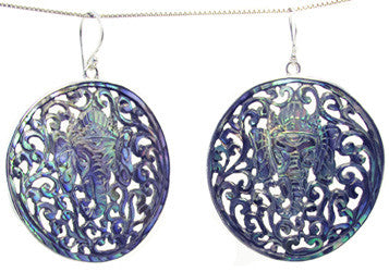 Carved Abalone Shell earrings - Agabhumi