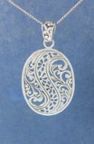 Carved and Swirled pendant - Agabhumi